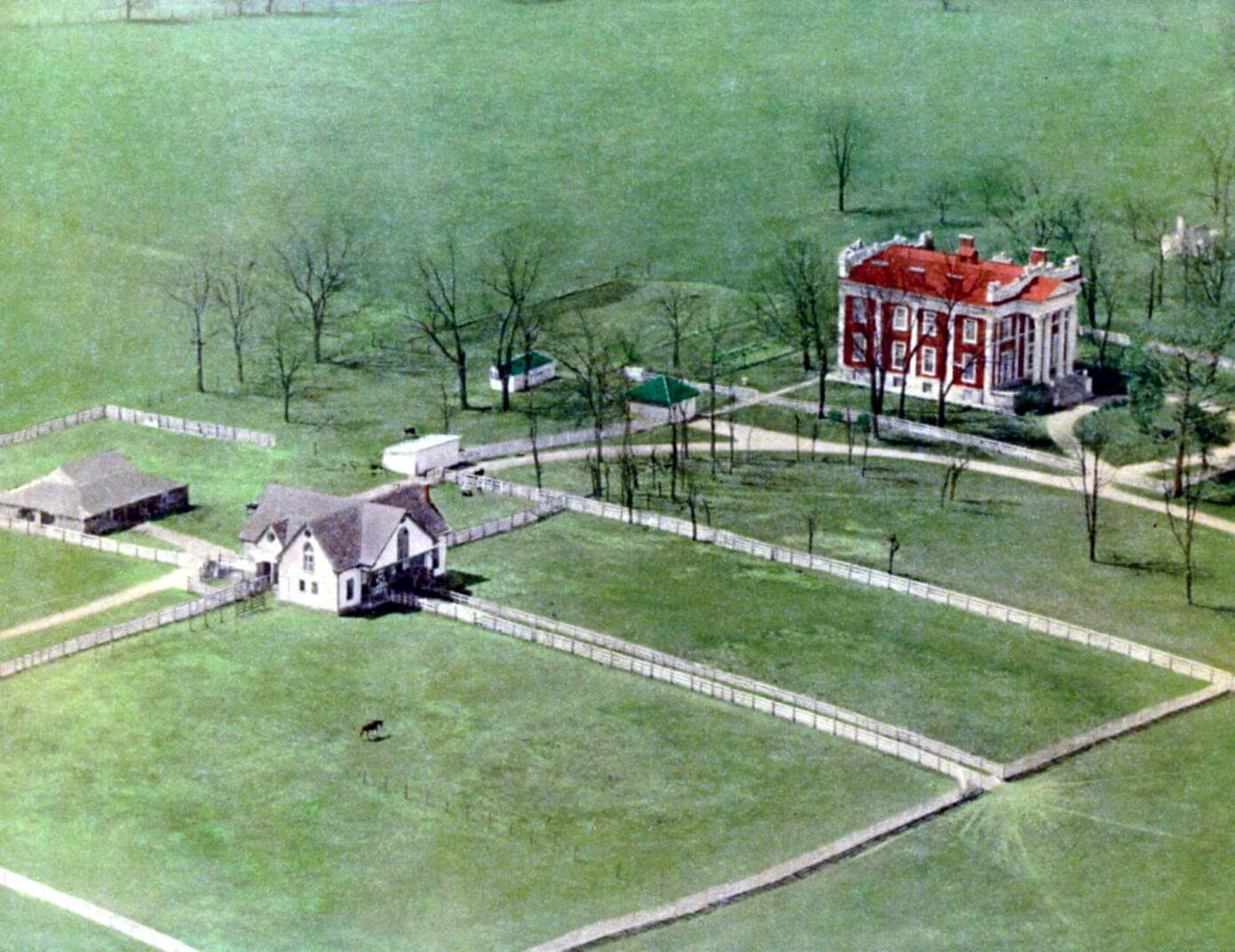 Ward Hall aerial view