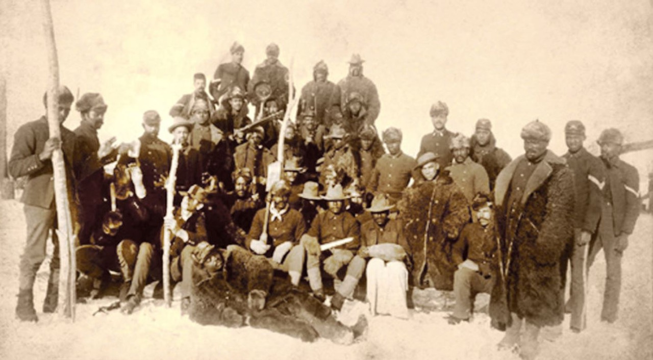 Historic photo of Buffalo Soldiers