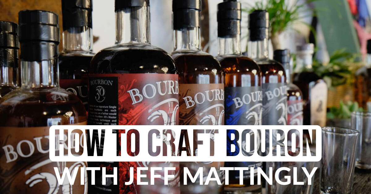 How to craft bourbon cover image with words
