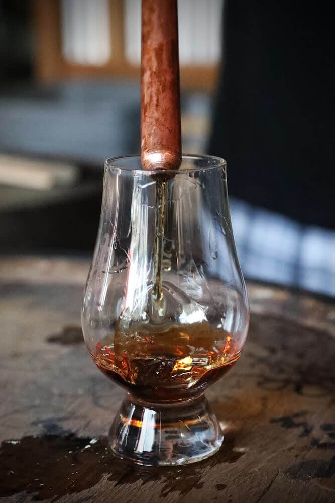 bourbon poured in glass